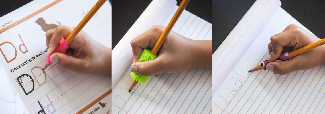 teach the correct writing grip