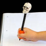 Original Pencil Grip on Skull Pen