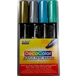 Uchida DecoColor Paint Marker Set - METALLIC
