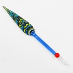 Peacock Feather Shaped Glass Dip Pen by J Herbin