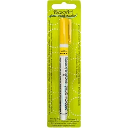 DecoArt Glass Paint Marker - YELLOW