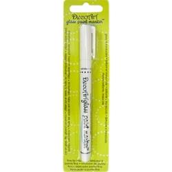 Decoart glass paint marker white for Enamel paint pens for glass