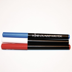 Wine Glass Writer - RED/WHITE/BLUE