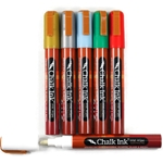 Chalk Ink Wet Wipe Markers - 6 Wintertastic colors