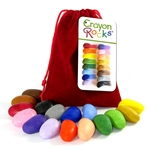 Crayon Rocks Ergonomic Crayons - Treasure Bag of 16 Summer Colors