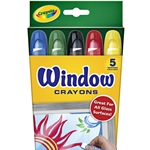 Crayola Window Crayon 5 Piece Set