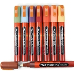 Chalk Ink Wet Wipe Markers - 8 EARTHY Colors