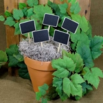Mini Wood Chalkboard Stake Signs (5 Pack)