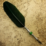 Long Straw Feather Quill Pen - GREEN