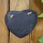 Hanging Slate Plaque/sign - LARGE HEART