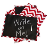 Chalkboard Placemat - RED CHEVRON