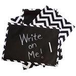 Chalkboard Placemat - BLACK CHEVRON