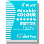 Pilot Parallel Pen Refill Cartridges - TURQUOISE BLUE