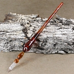 Marbled Glass Dip Pen - AMBER