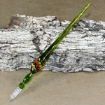 Marbled Glass Dip Pen - GREEN
