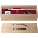 Wooden Box Writing Set by J Herbin