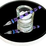 Jupiter Glass Dip Pen - SEGEMENTED LAVENDER