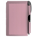 Large Executive Flip Note With LED Pen - ROSE