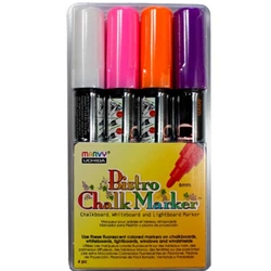 Marvy Bistro Chalk Markers - FLUORESCENT BRIGHT