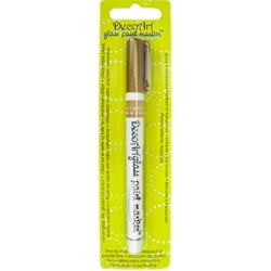 DecoArt Glass Paint Marker - GOLD