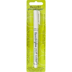 DecoArt Glass Paint Marker - WHITE
