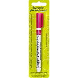 DecoArt Glass Paint Marker - FUCHSIA