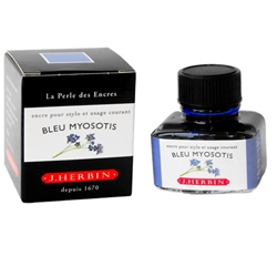 J Herbin Bleu Myosotis Blue Fountain Pen Ink 30ml